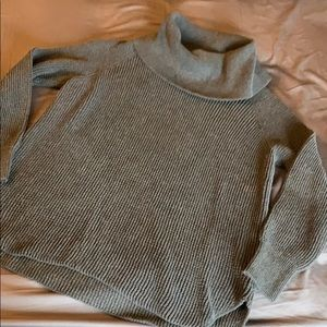 Michael Kors Gray Waffle Sweater